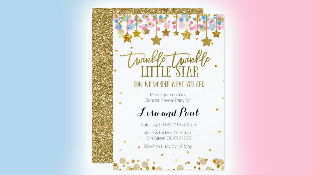How We Wonder What You Are Gender Reveal Party Invites