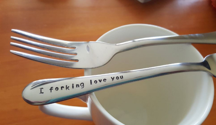 Cute I Forking Love You Valentines Day Gift Idea
