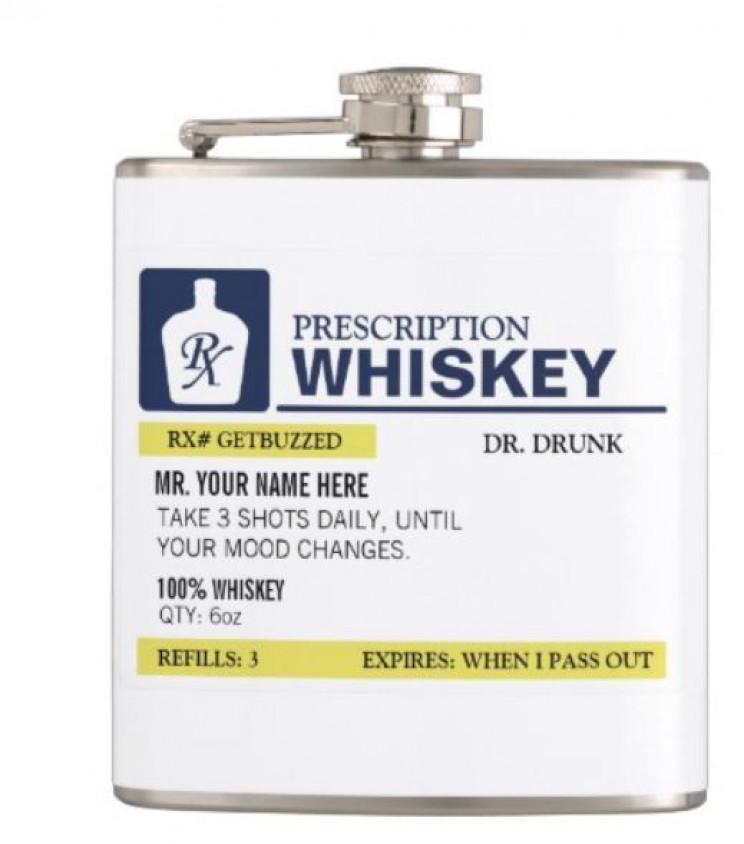 Funny Prescription Whiskey Flask