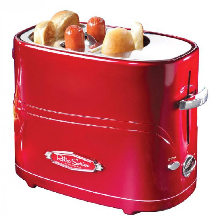 Retro Red Pop-Up Hot Dog Toaster