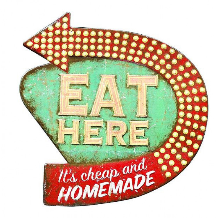 Creative Retro Style Eat Here Tin Wall Sign