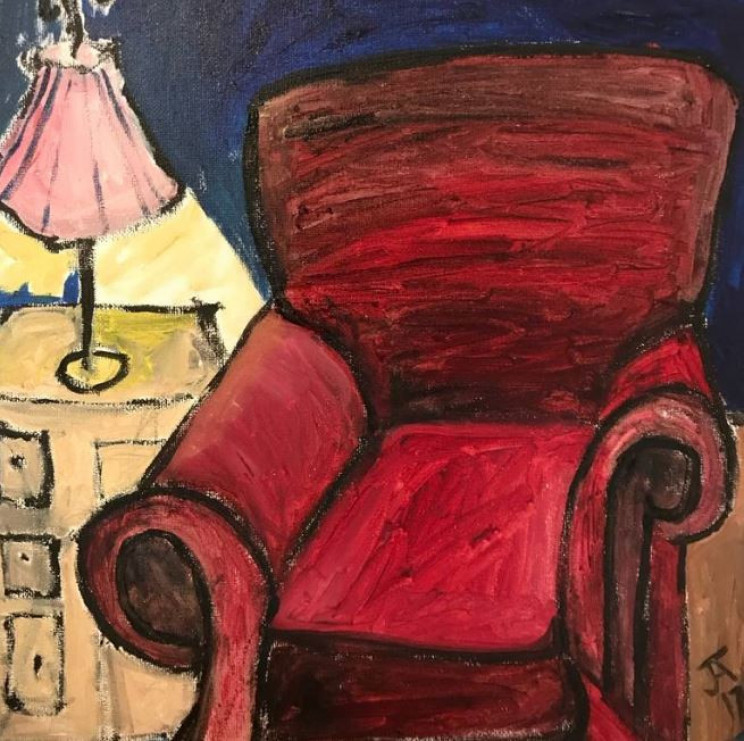 red chair paintings