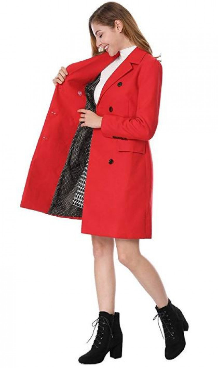 Longline Double Breasted Womens Winter Trench Coat