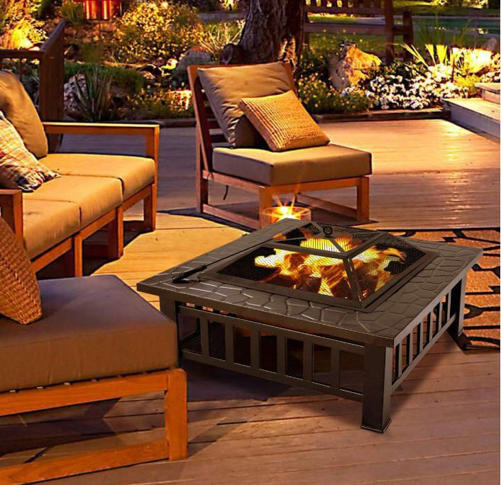 Multi Functional Steel Patio Fire Pit