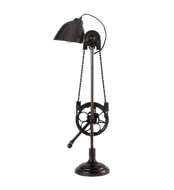 Industrial Style Bicycle Desk Lamp With Mechanical Movement