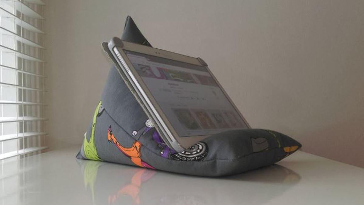 Cute and Useful Retro Vespa Scooter iPad or Tablet Pillow