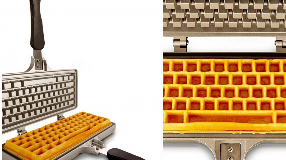 Keyboard Waffle Iron Makes For Unique Breakfast Experience