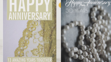 10 Traditional Anniversary Greeting Cards