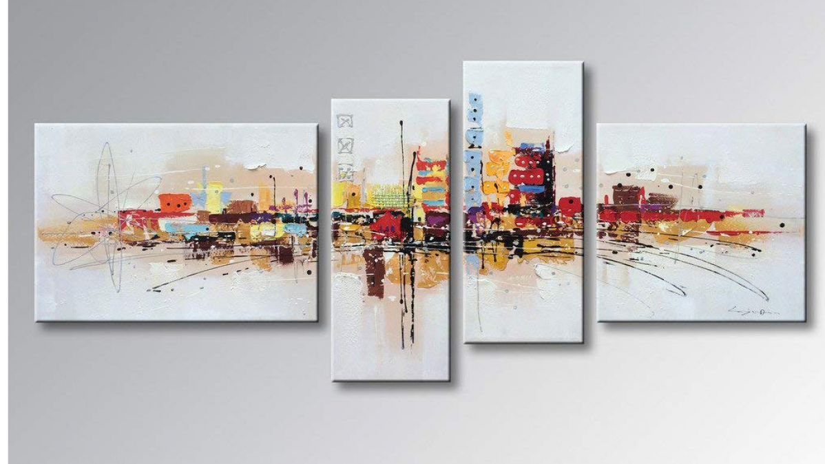 Contemporary Abstract Cityscape Painting