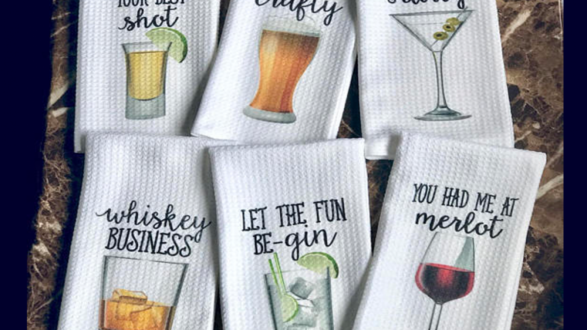 Cute and Funny Pun Bar Towels For Your Home
