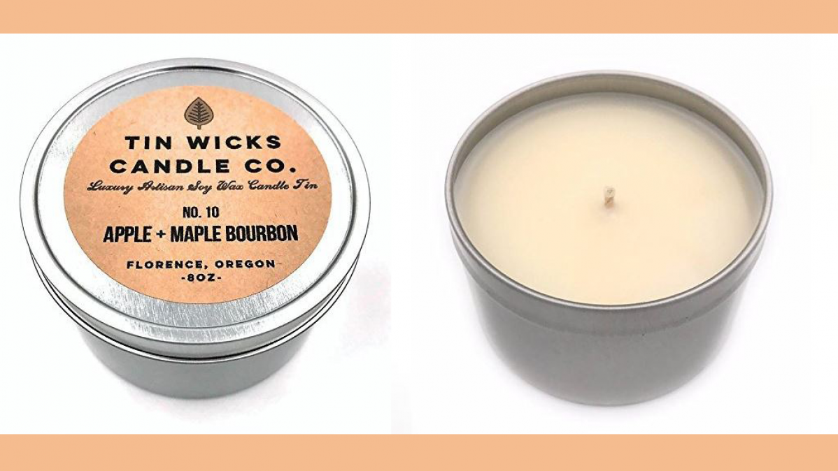 Cool Apple and Maple Bourbon Scented Candle