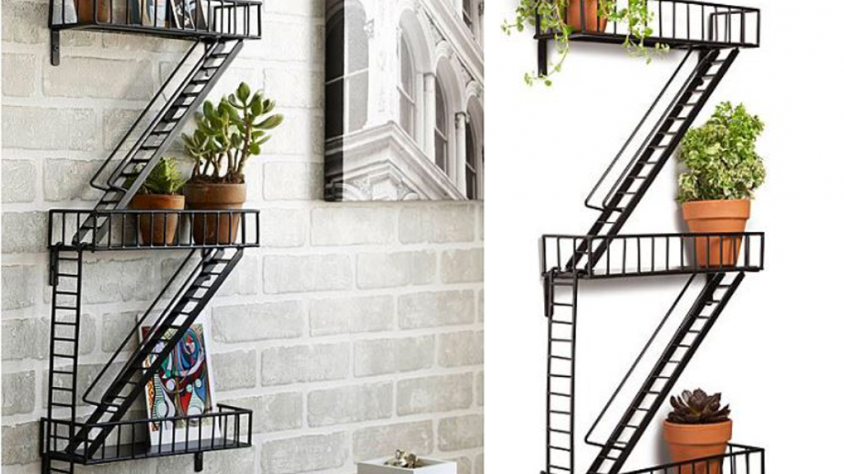Contemporary Fire Escape Wall Shelf