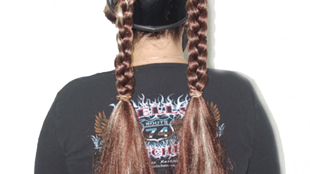 Different and Cool Motorcycle Helmet Pigtails