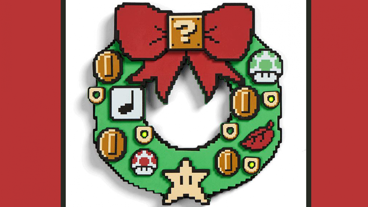 Cool Nintendo Super Mario Light-Up Wreath