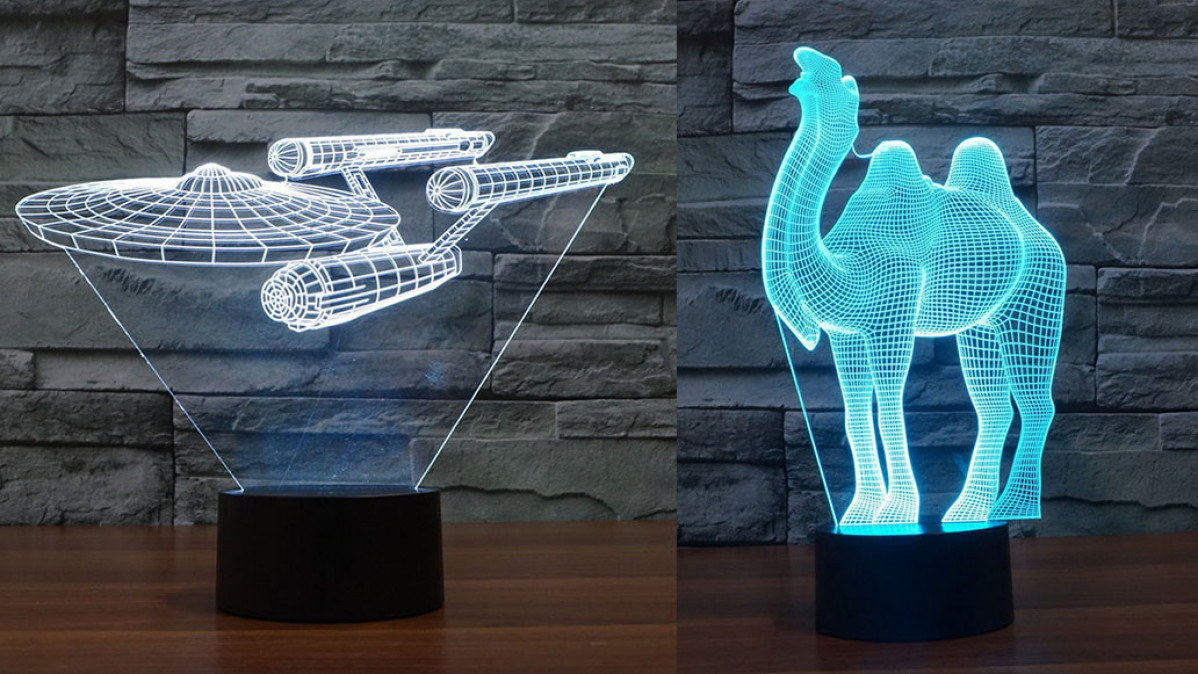 3D Optical Illusion Lamp