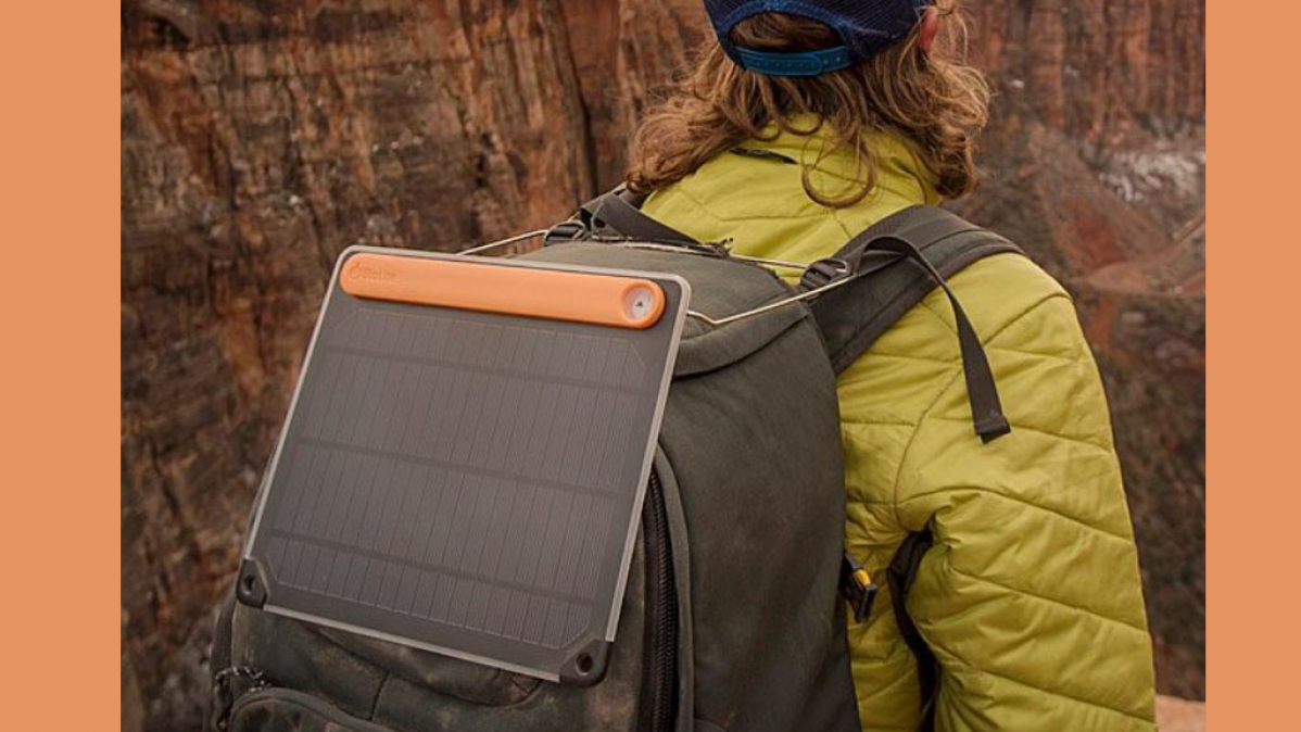 Integrated Sundial Portable Solar Charging Panel