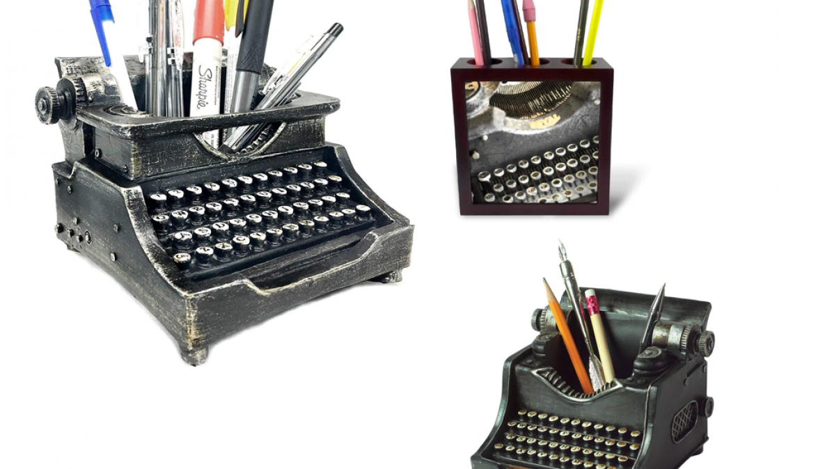 14 Typewriter Pencil Holders for an Old School Look