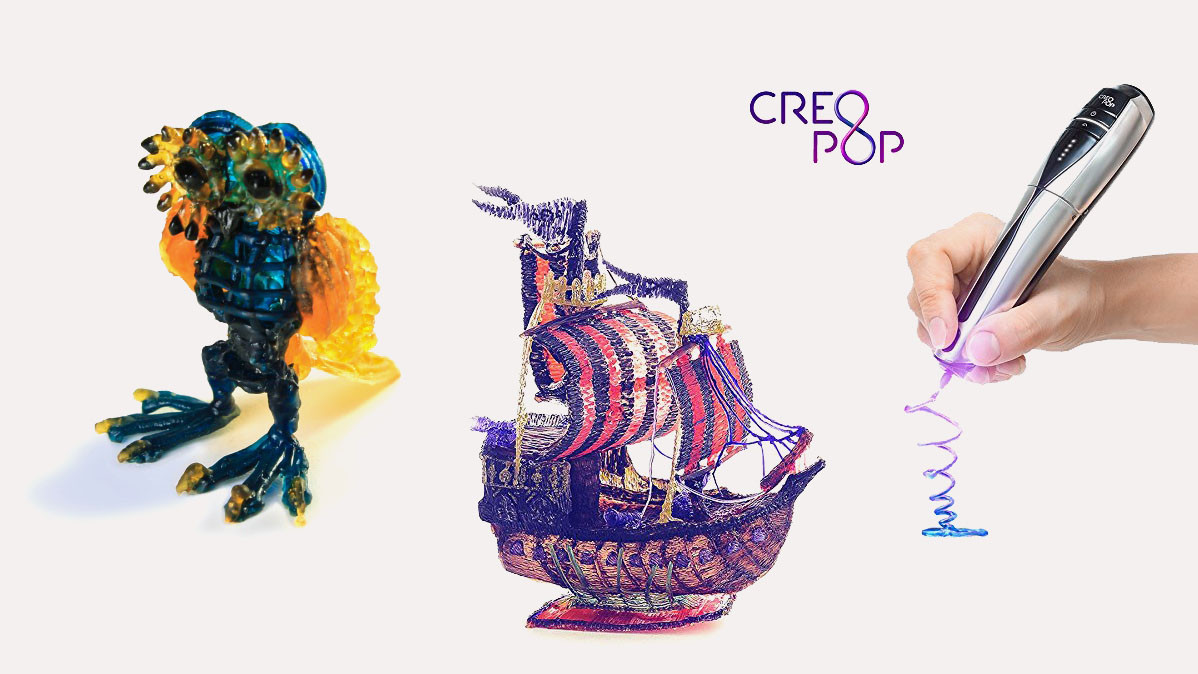 CreoPop Professional Freeform 3D Printer Pen With Cool Inks