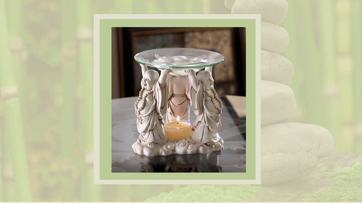 Smile Worthy Happy Buddha Oil Warmer