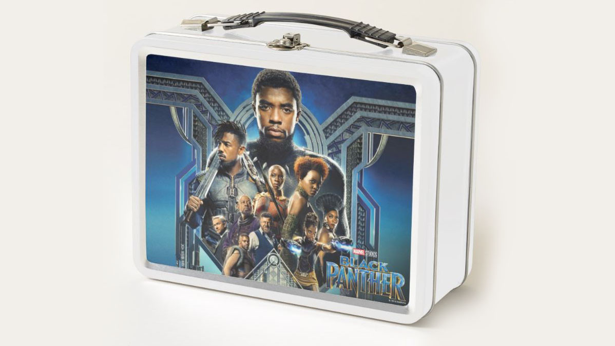 Licensed Black Panther Characters Over Wakanda Avengers Lunch Box