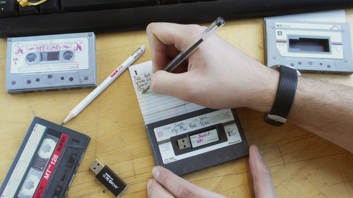 Cool 80s Flashback Cassette Style USB Mix Tape