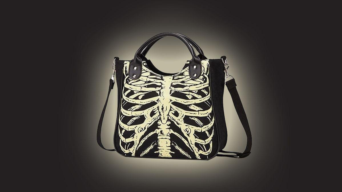 Glowing Skeleton Bones Cool Gothic Handbag