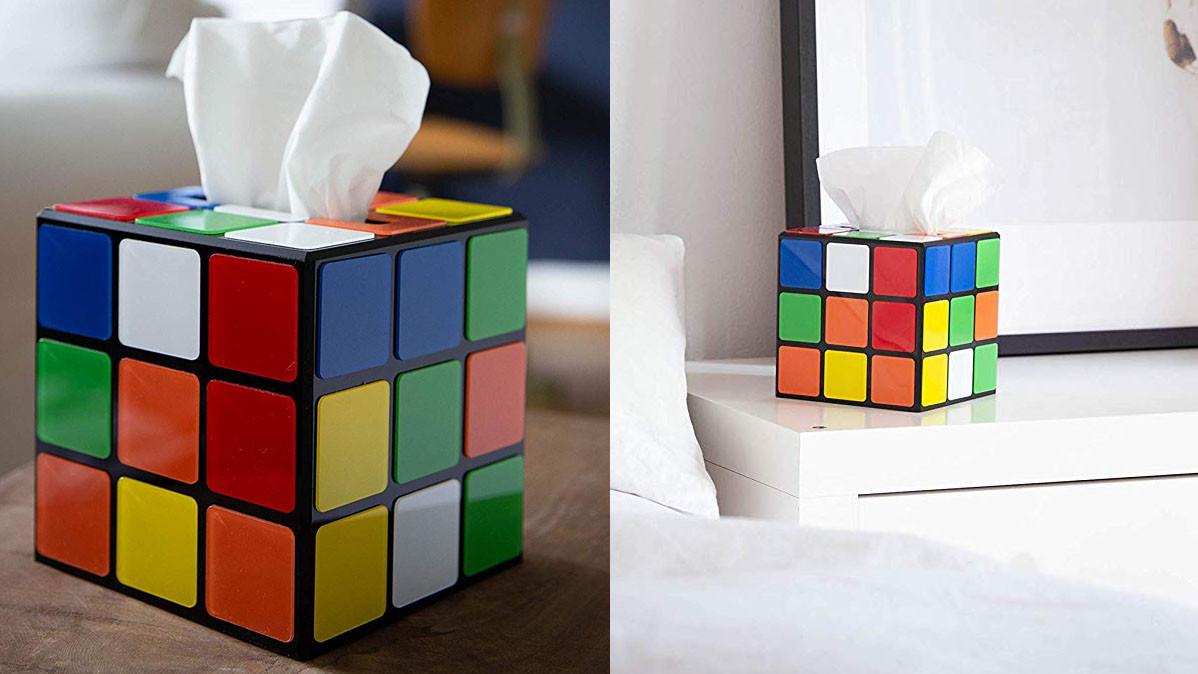 Retro Rubix Cube Tissue Box Cover For 80s Fans