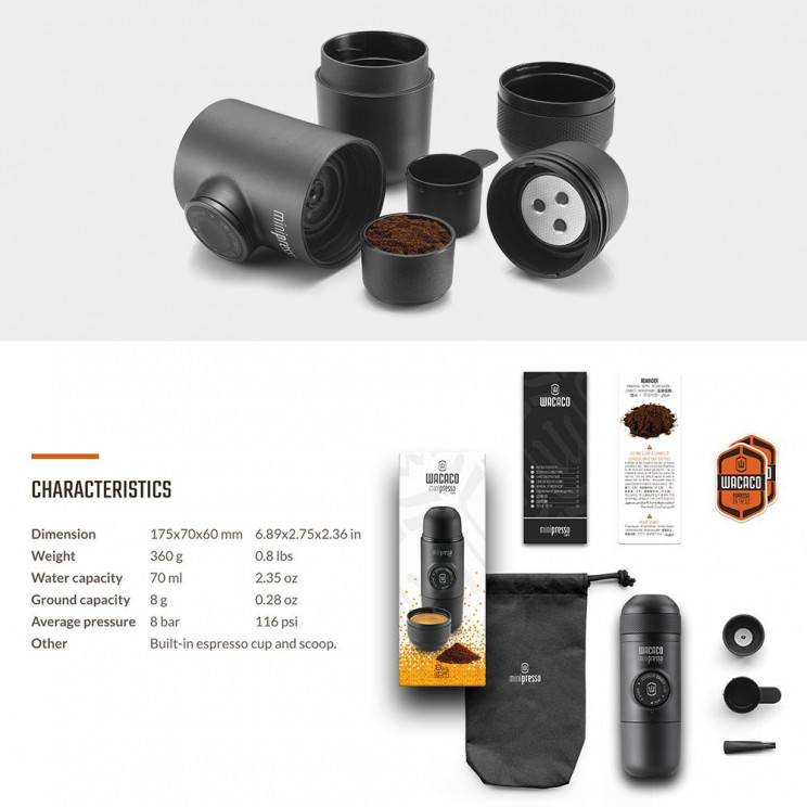 Portable Hand Held Espresso Maker