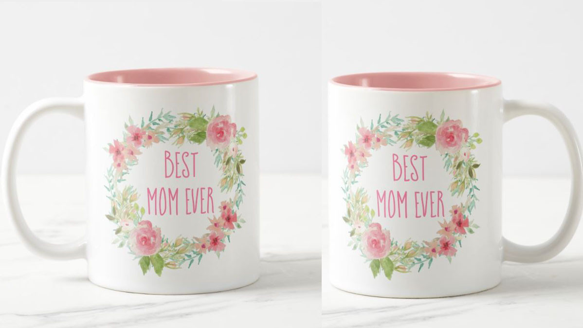 Pretty Floral Best Mom Ever Mug