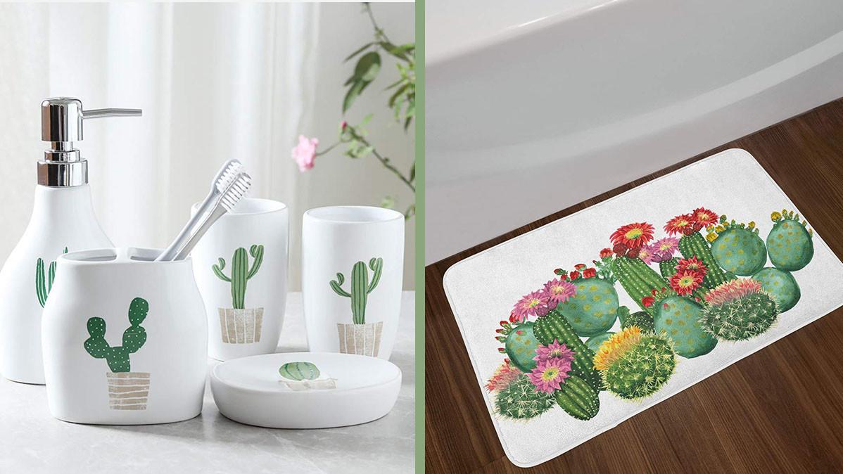 Bathroom Decor.10 Cool And Fresh Cactus Themed Bathroom Decor Ideas