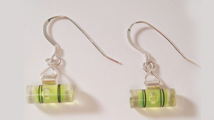 Unique and Cool Miniature Bubble Level Earrings
