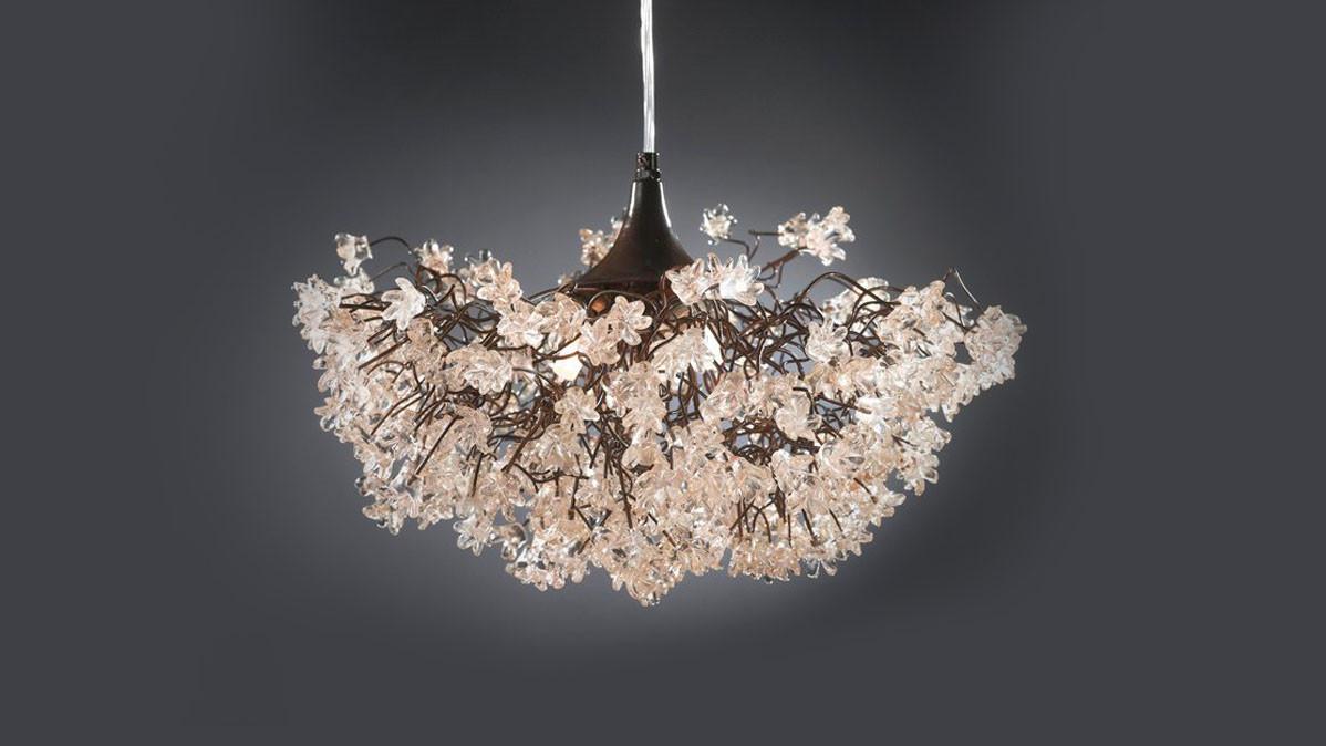 Elegant Floral Handmade Ceiling Light