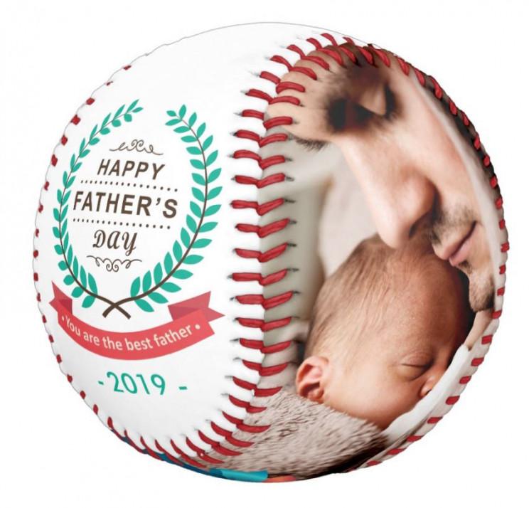 Custom Family Photos Father's Day Baseball Gift
