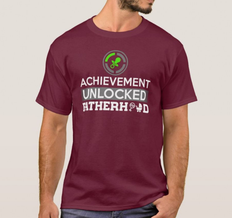 Funny Achievement Unlocked Fatherhood T-Shirt
