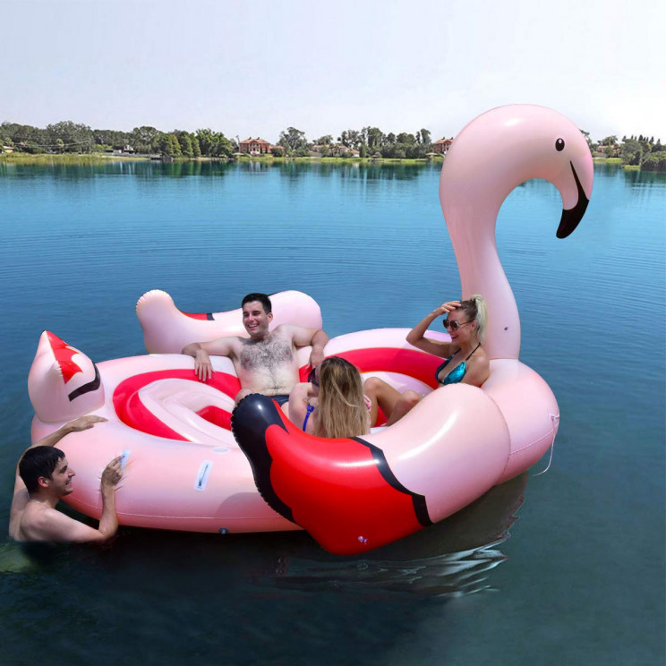 Instagram-Friendly Giant Flamingo Float for the Pool Parties