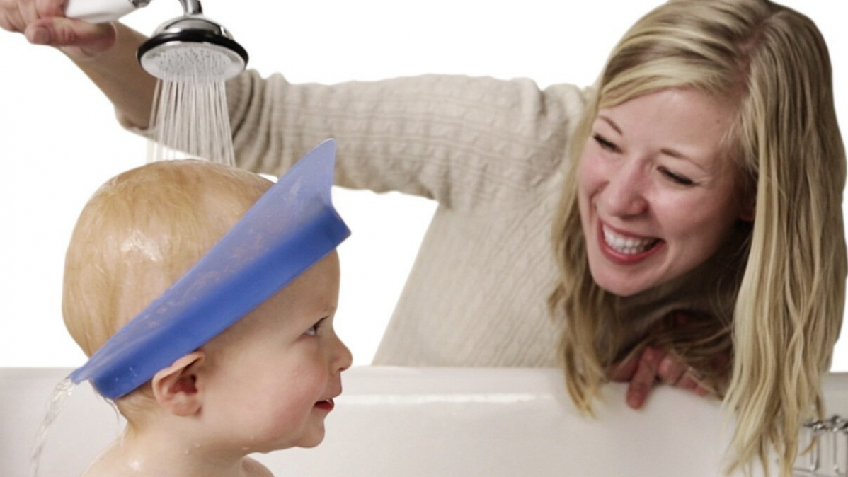 Protect Your Baby's Eyes with This Bath Visor