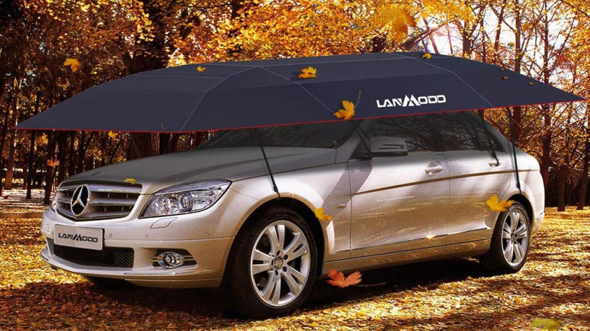 Don't Let Your Car Get Wet in the Rain with This Lanmodo Car Tent