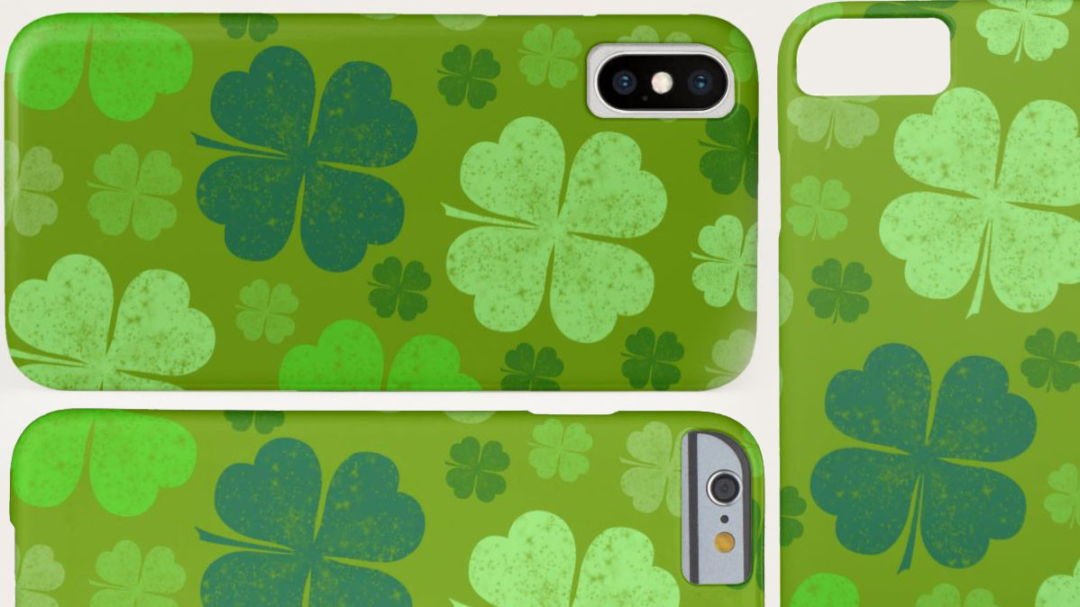 Lucky Four Leaf Clover Smartphone and Device Cases