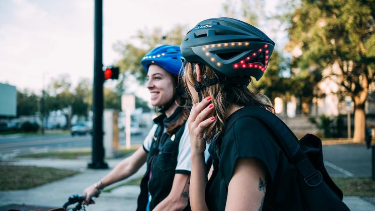 A Biker's Dream; The Lumos Helmet with Led Lights