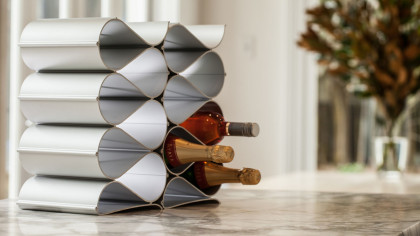 Modular Six Bottle Stackable Wine Rack Kit