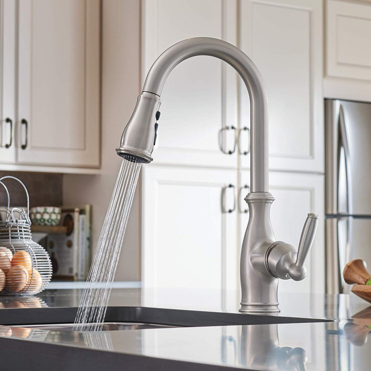 This Traditional Looking Modern Faucet Revolutionizes Your Kitchen