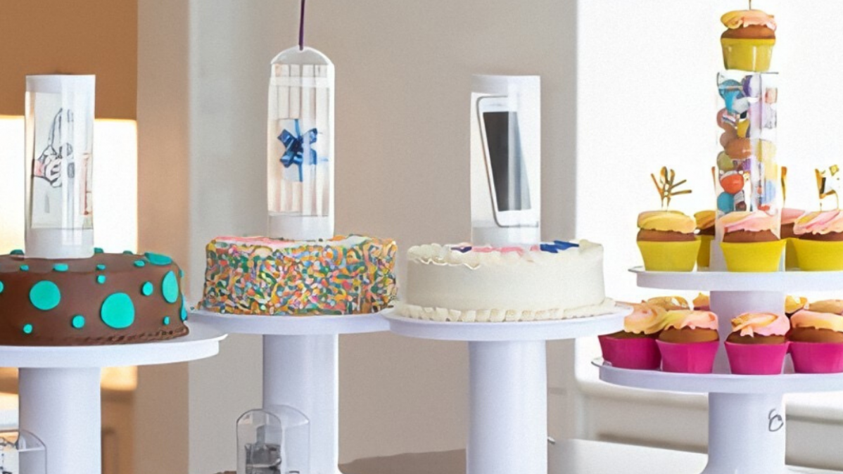 Hide Your Gifts in a Cake with the Musical Popping Cake Stand