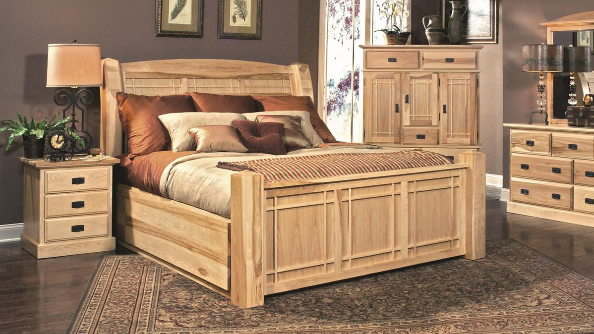 AAmerica Amish Highlands 6 Piece King Size Bedroom Set