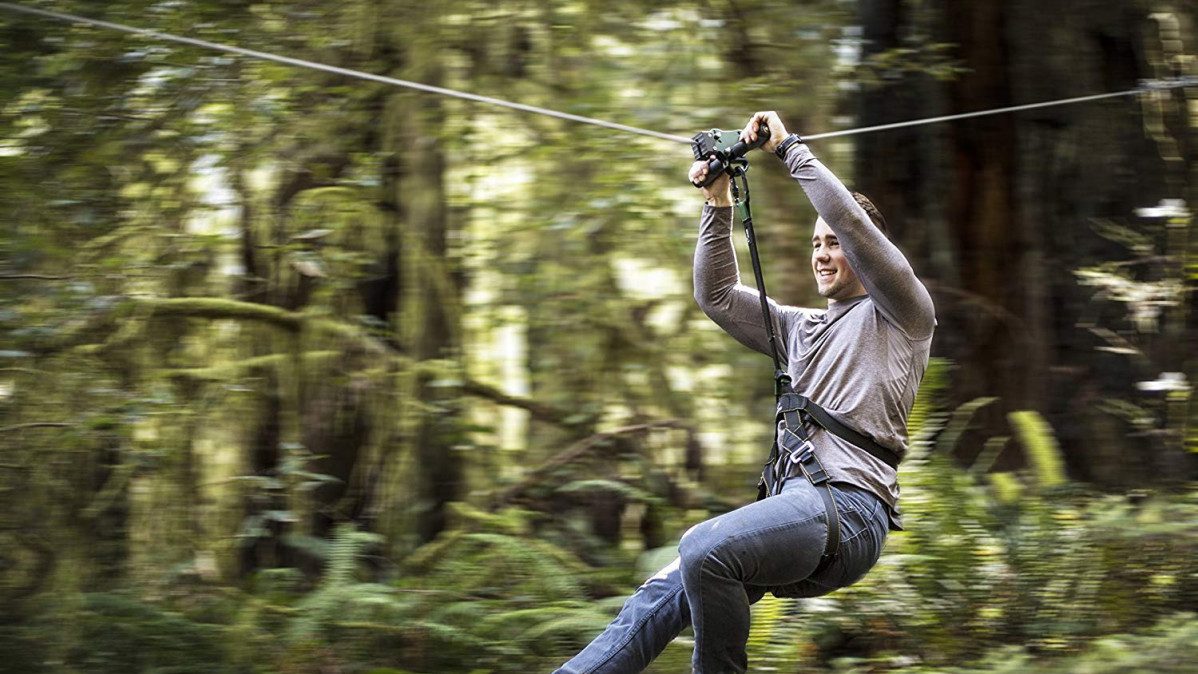 Fly Across Your Backyard with The Zip Line Kit