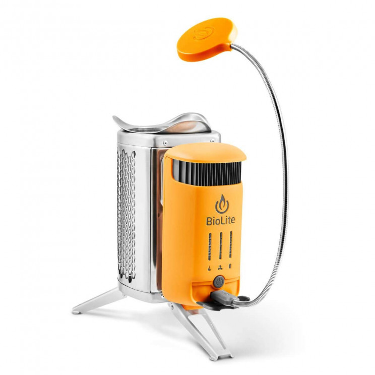 Smart Campstove That Can Charge Electronics While Cooking