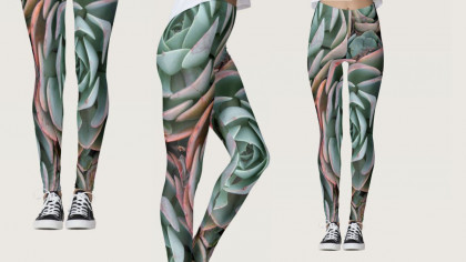 Echeveria Succulent Fashion Leggings