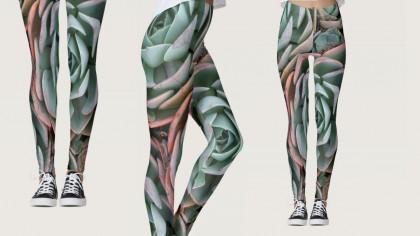 Echeveria Succulent Fashion Leggings