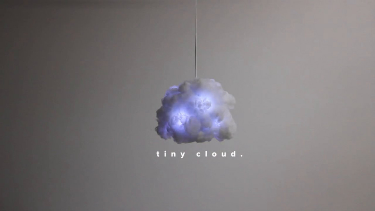 Tiny Cloud Reactive Light Bluetooth Speaker Lamp