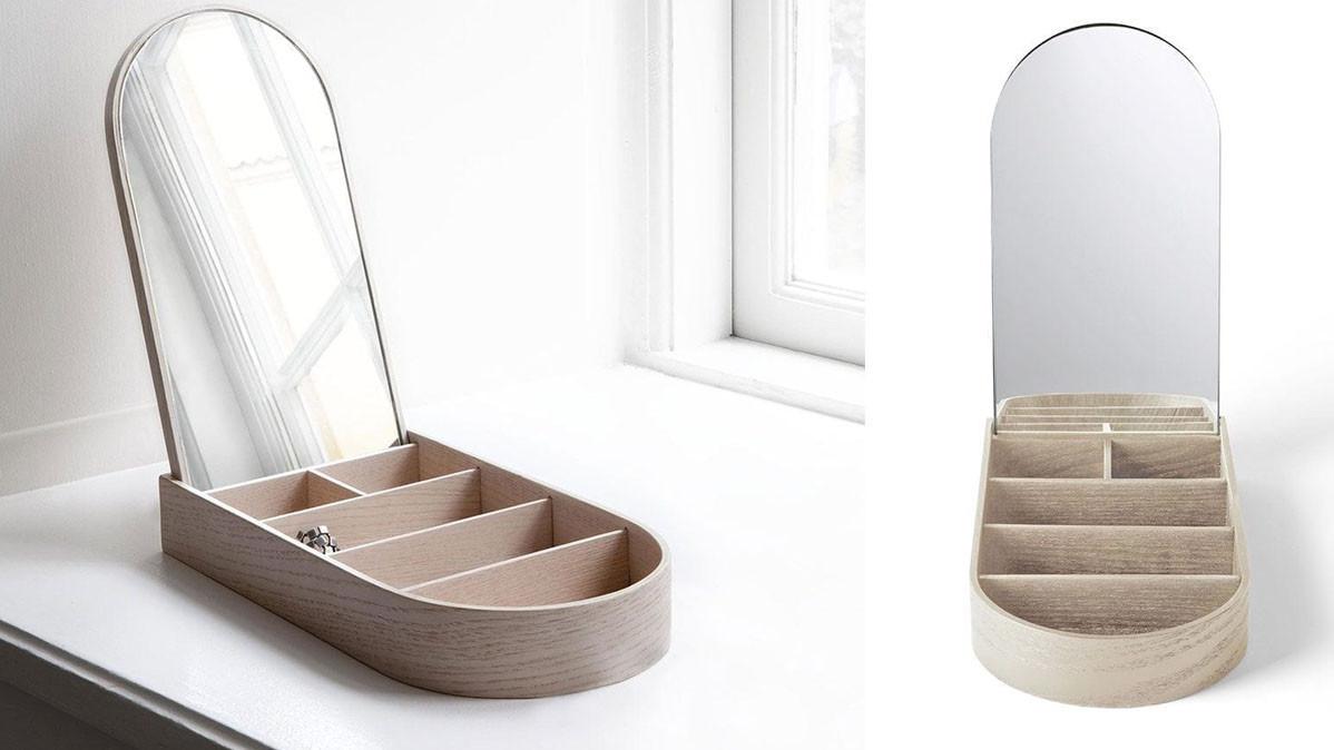 Contemporary White Oak Wooden Jewelry Box
