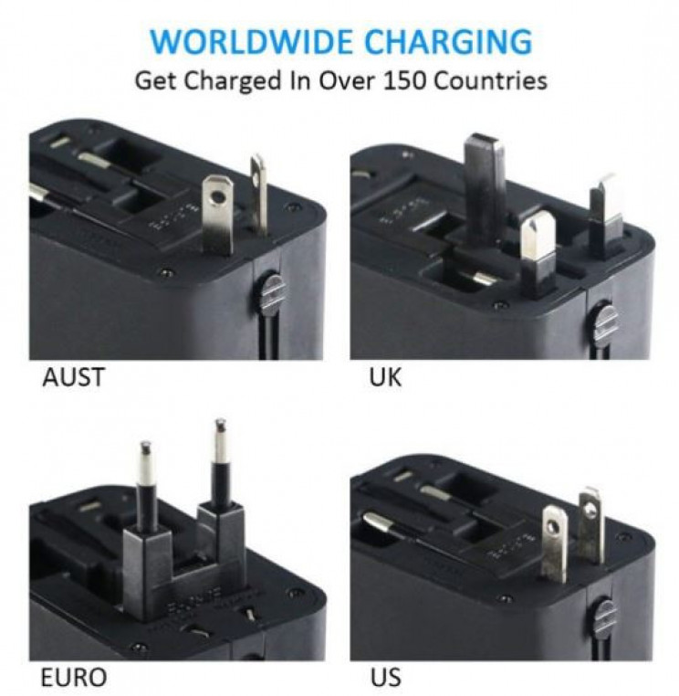 Convenient All In One Universal Power Adaptor For Travellers